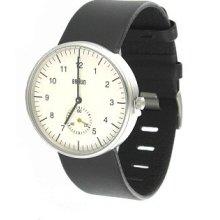 Braun Dieter Analog Bn-24whg Fine White Dial Mens Classic Date Watch Bn0024