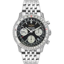 Breitling Navitimer Steel Mens Watch Black Analog Dial A2332212/B635