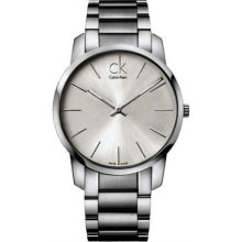 Calvin Klein K2G21126 Watch City Mens - Silver Dial Stainless Steel Case Quartz Movement