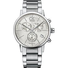 Calvin Klein K7627126 Watch Post Minimal Mens - Silver Dial Stainless Steel Case Quartz Movement