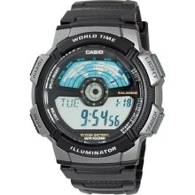 Casio AE1100W1A Mens Black Resin Strap Watch Black