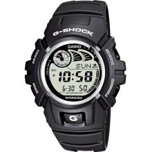 Casio G-Shock G-2900F-8 Digital Quartz Sports Multifunction Watch With Chronograph, Alarm, Date Indicator, Black Rubber Strap, Water Resistant To 20 Bar