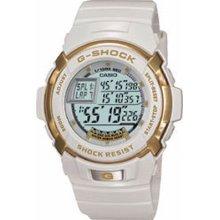 Casio G-Shock Men's Digital Dial Lap Timer White Resin Band Watch - Casio G7700LV-7