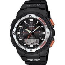 Casio Men's Twin Sensor Watch, Black Resin Strap