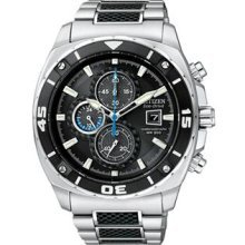 Citizen CA0300-50E Watch Chronographs Mens - Black Dial Stainless Steel Case Quartz Movement