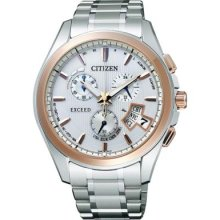 Citizen Ebs74-5102 Exceed Eco Drive Solar Atomic Perfex Multi 3000 Watch
