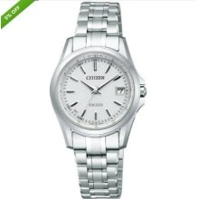 Citizen Exceed Ec1000-51a Eco-drive Solar Power Radio Control Watch For Women