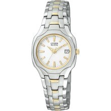 Citizen Watch, Womens Eco-Drive Two-Tone Stainless Steel Bracelet 26mm