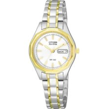 Citizen Watch, Womens Eco-Drive Two Tone Stainless Steel Bracelet 26mm