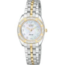 Citizen Watch, Womens Eco-Drive Two-Tone Stainless Steel Bracelet 27mm