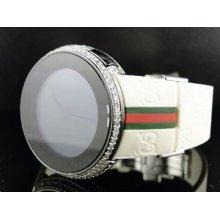 Custom White Full I Gucci Digital Diamond Watch 5.5 Ct