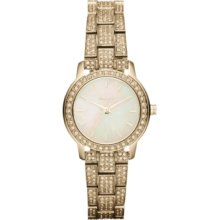 DKNY Watch, Womens Crystal Accent Gold Ion-Plated Stainless Steel Brac