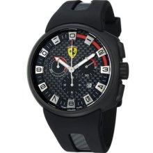 Ferrari Men's Podium Swiss Made Quartz Chronograph Black Rubber Strap Watch