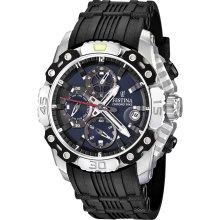 Festina F16543-2 Men's Bike Dark Blue Dial Chronograph Black Rubber St