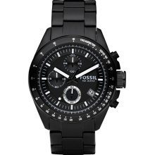 Fossil Decker Black Chronograph Mens Watch CH2601