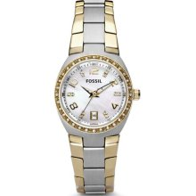 Fossil Flash Three Hand Stainless Steel Watch - Two-Tone - AM4183