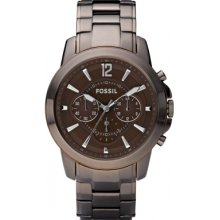 Fossil Fs4608 Mens Grant Brown Chronograph Watch Rrp £135