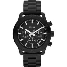 Fossil Keaton Black Ion Plated Chronograph Mens Watch