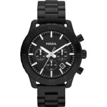 Fossil Keaton Black Ion Plated Chronograph Mens Watch CH2816