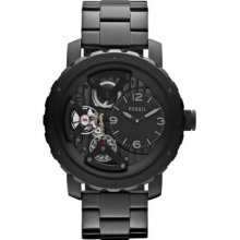 Fossil Men's Nate Twist Stainless Steel Watch - Black Me1133
