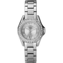 Fossil Watch Riley Mini ES2879 30mm silver bracelet, white dial, dat