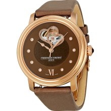 Frederique Constant Double Heart Brown Mother of Pearl Dial Rose Gold-tone Ladies Watch FC-310CDHB3P4