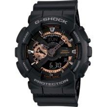 G-Shock Watch, Mens Analog Digital Black Resin Strap 51x55mm GA110RG-1
