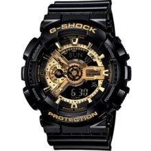 G-Shock Watch, Mens Analog Digital Black Resin Strap GA110GB-1A