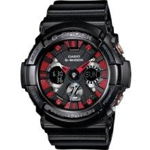 G-Shock Watch, Mens Analog-Digital Black Resin Strap 55x53mm GA200SH-1