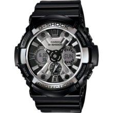 G-Shock Watch, Mens Analog-Digital Black Resin Strap 53mm GA200BW-1A