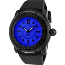 Glam Rock Watches Women's Miami Beach Dark Blue Dial Black Silicone Bl