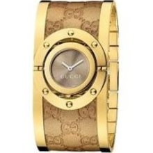 Gucci Watch, Womens Swiss Twirl Yellow Gold Plated Stainless Steel and