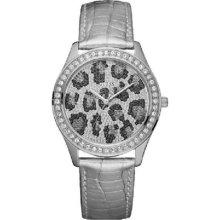 Guess Silver Catwalk Stone Set Ladies Watch W80050l1