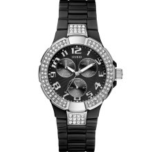 GUESS Status In-the-Round Watch - Black Polyca