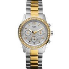 Guess Two Tone Women's Two Tone Contemporary Chronograph Watch