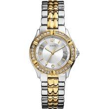 Guess U0026L1 Watch Dazzling Sport Ladies - Silver Dial