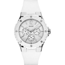Guess U10657L1 White Silicone Band Sport Women's Watch