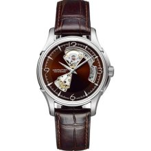 Hamilton H32565595 Watch Jazzmaster Open Heart Mens - Brown Open Dial Stainless Steel Automatic Movement