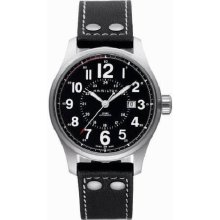 Hamilton H70615733 Watch Field Officer Mens - Black Dial Stainless Steel Automatic Movement
