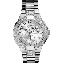 I14503l1 Guess Ladies Silver Prism Swarovski Watch