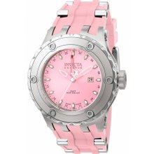 Invicta 1399 Men's Reserve Specialty Subaqua Pink Dial GMT Pink Rubber