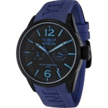 Invicta 1741 I-Force Military Lume Blue Polyurethane Strap Mens Watch