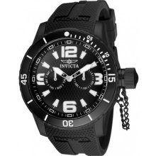 Invicta 1794 Men $895 Specialty Black White Dial Quartz Brown Polyurethane Watch