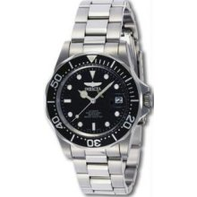 Invicta 8926 Mens Stainless Steel Pro Diver Black Dial Automatic