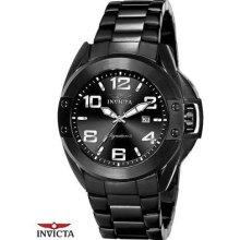 Invicta Black IP Stainless Steel Bracelet Mens Watch