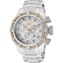 Invicta Bolt Reserve Chronograph Silver Dial Mens Watch 11034