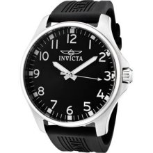 Invicta Men's 11397 Specialty Black Dial Black Polyurethane Watch - UNBOXED