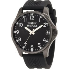 Invicta Men's 11399 Specialty Black Dial Black Polyurethane Watch, no box