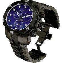 Invicta Men's Black Stainless Steel Subaqua Venom 1000M Diver Chronograph Blue Tone Dial 5731