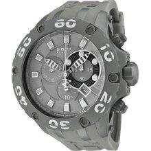 Invicta Men's Reserve Chronograph Grey Dial Grey Polyurethane